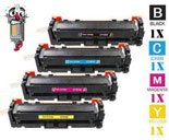 4 Piece Bulk Set Hewlett Packard HP410X Laser Toner Cartridges