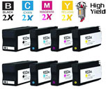8 Piece Bulk Set Hewlett Packard HP952XL HP956XL Ink Cartridges