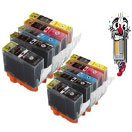 10 Piece Bulk Set Canon PGI220 CLI221 Ink Cartridges