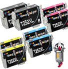 8 Piece Bulk Set Epson T252XL Ink Cartridges